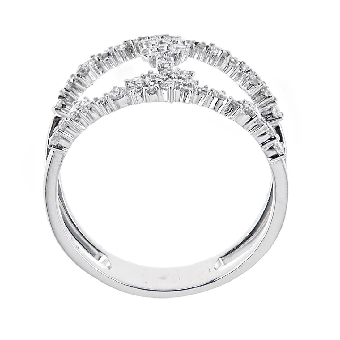 0.51 ctw Diamond Ring - 18KT White Gold - 2