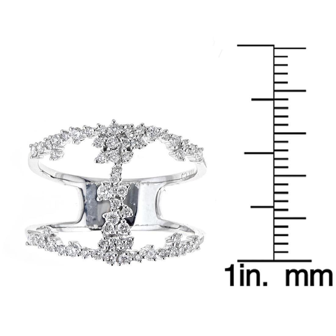 0.51 ctw Diamond Ring - 18KT White Gold - 3