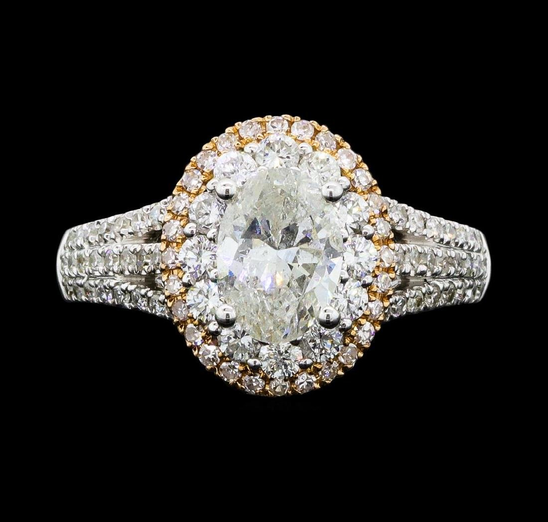 1.54 ctw Diamond Ring - 18KT White And Yellow Gold - 2
