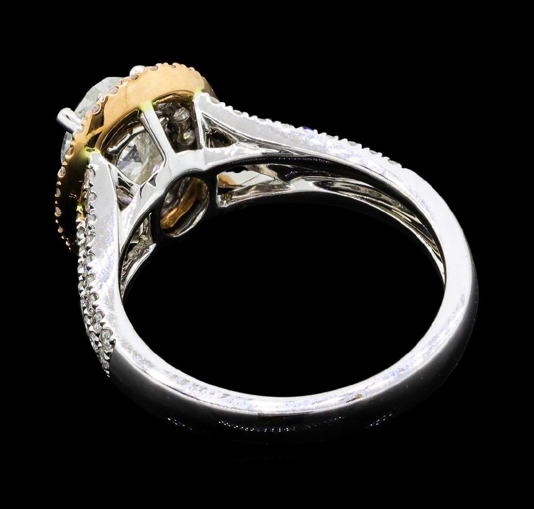 1.54 ctw Diamond Ring - 18KT White And Yellow Gold - 3