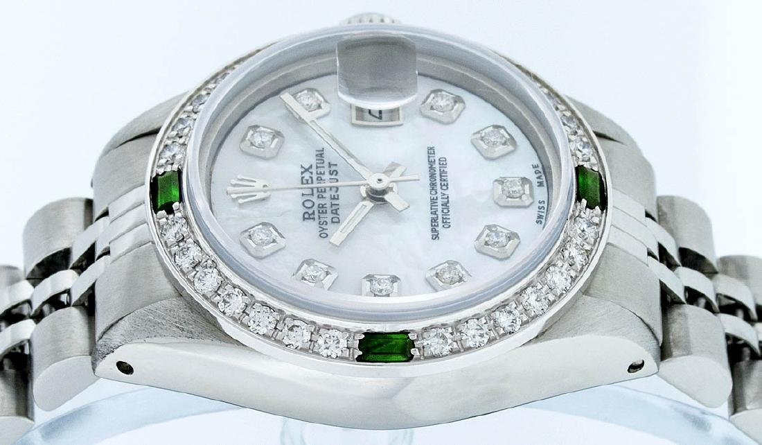 Rolex Ladies Stainless Steel Mother Of Pearl Diamond - 5