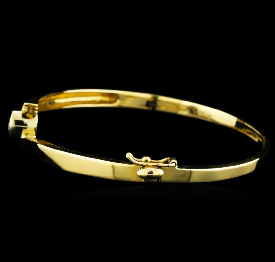 0.45 ctw Diamond Bangle Bracelet - 14KT Yellow Gold - 2
