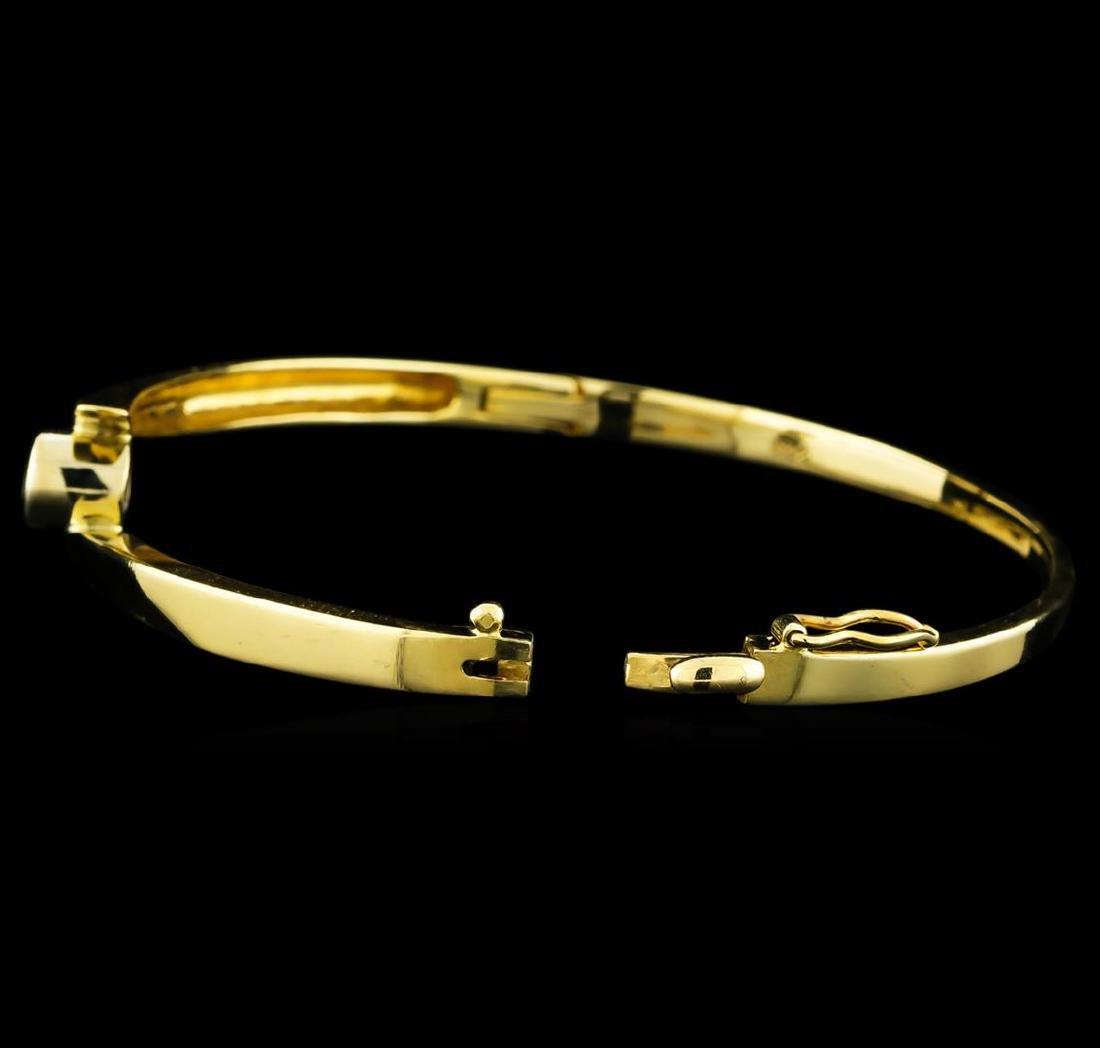 0.45 ctw Diamond Bangle Bracelet - 14KT Yellow Gold - 3