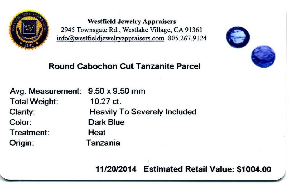 10.27 ctw. Round Cabochon Cut Tanzanites - 2