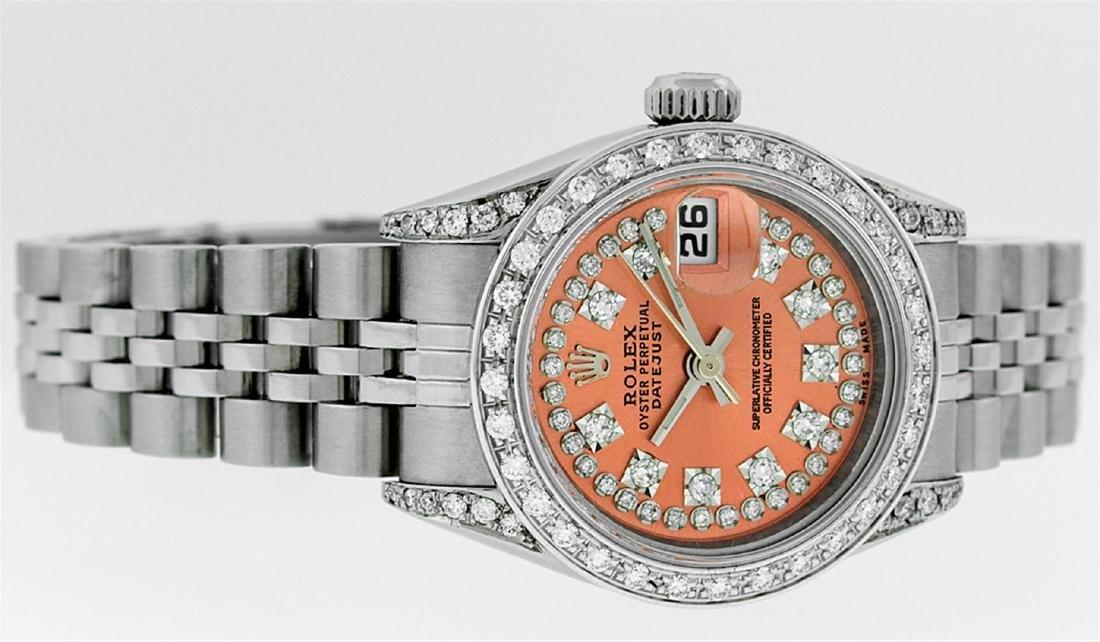 Rolex Ladies Stainless Steel Quickset Orange String - 3