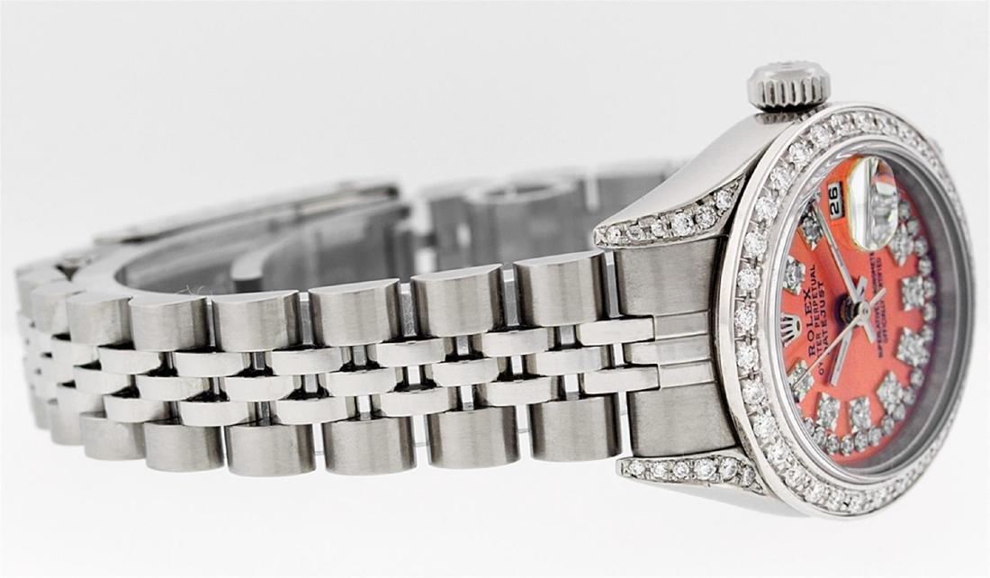 Rolex Ladies Stainless Steel Quickset Orange String - 4