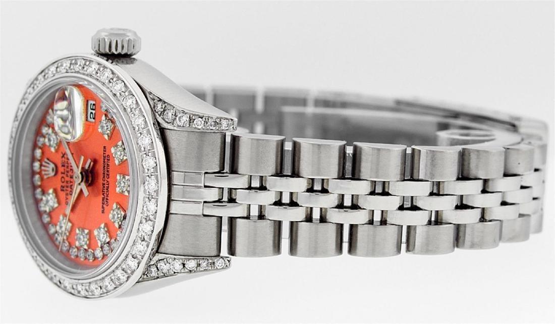 Rolex Ladies Stainless Steel Quickset Orange String - 5
