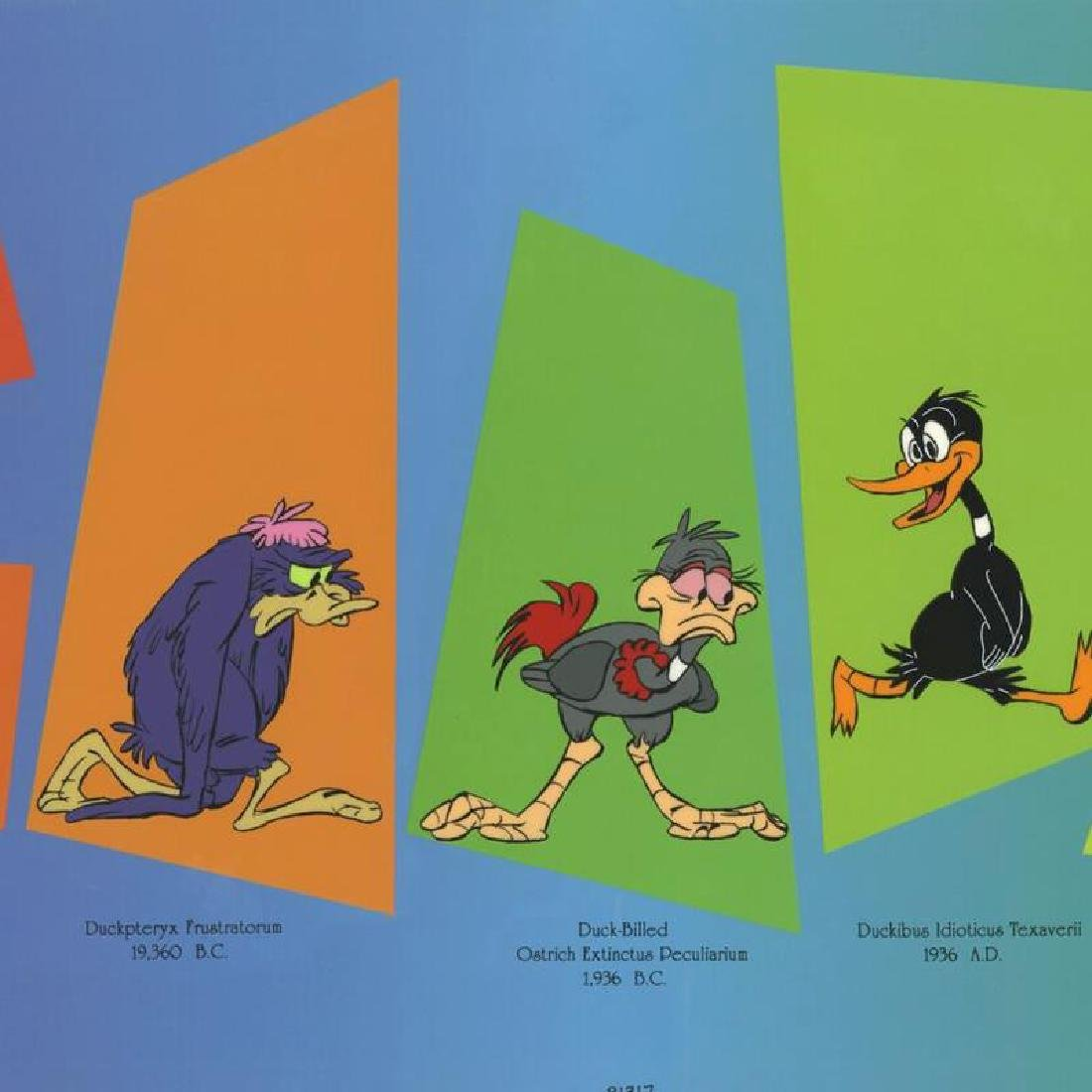 Evolution Of Daffy by Chuck Jones (1912-2002) - 2