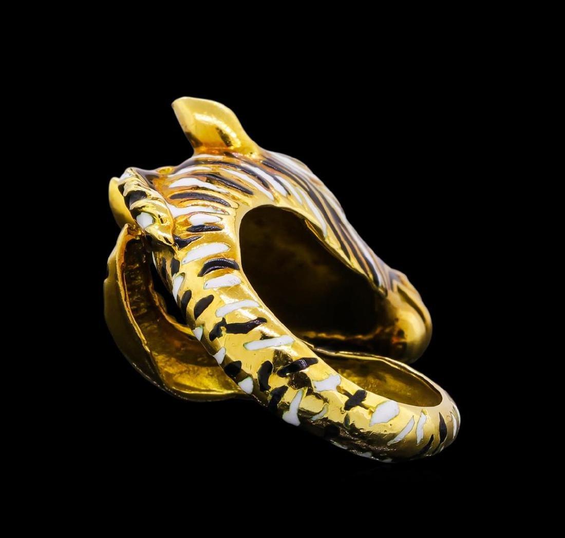 18KT Yellow Gold Zebra Ring - 3