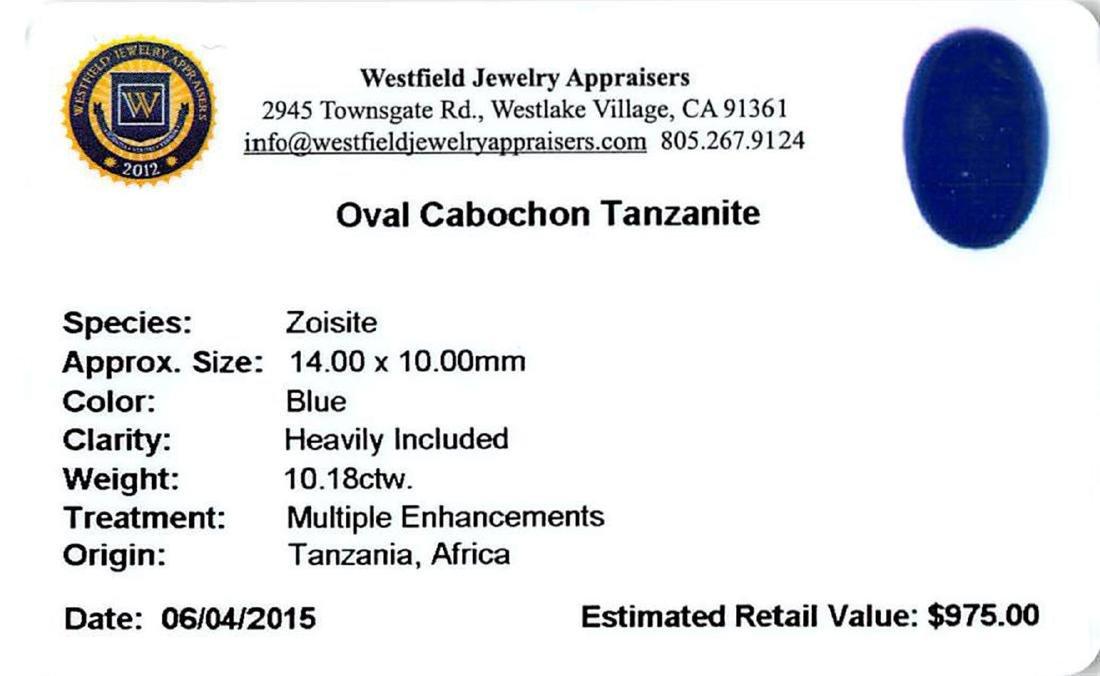 10.18 ctw Cabochon Tanzanite Parcel - 2