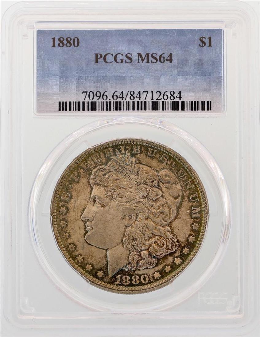 1880 $1 Morgan Silver Dollar Coin PCGS MS64