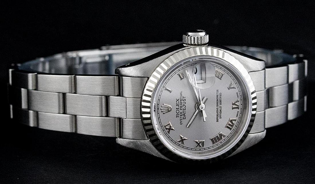 Rolex Ladies Stainless Steel Slate Grey 26MM Oyster - 2