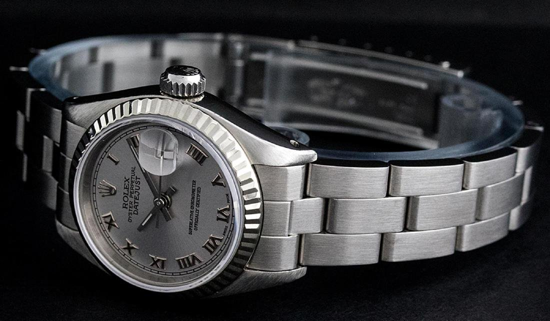 Rolex Ladies Stainless Steel Slate Grey 26MM Oyster - 3