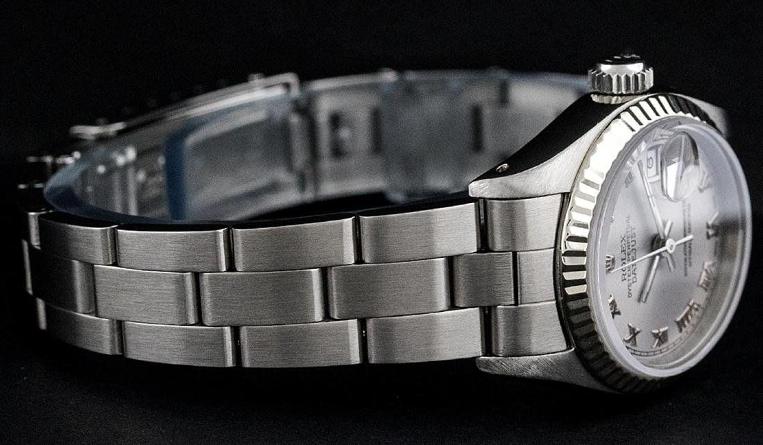 Rolex Ladies Stainless Steel Slate Grey 26MM Oyster - 4