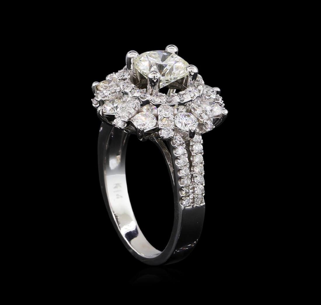 2.40 ctw Diamond Ring - 14KT White Gold - 4