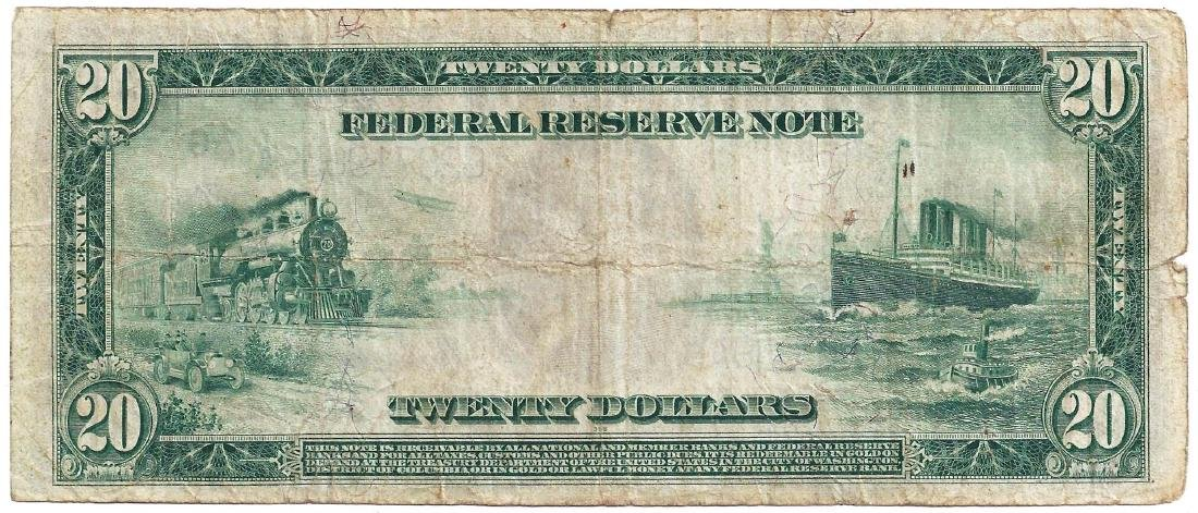 1914 $20 Federal Reserve Note - 2