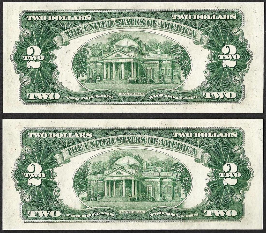 Lot of (2) 1953B $2 Legal Tender Notes - 2