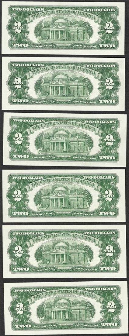 Lot of (6) 1963 $2 Legal Tender Notes - 2