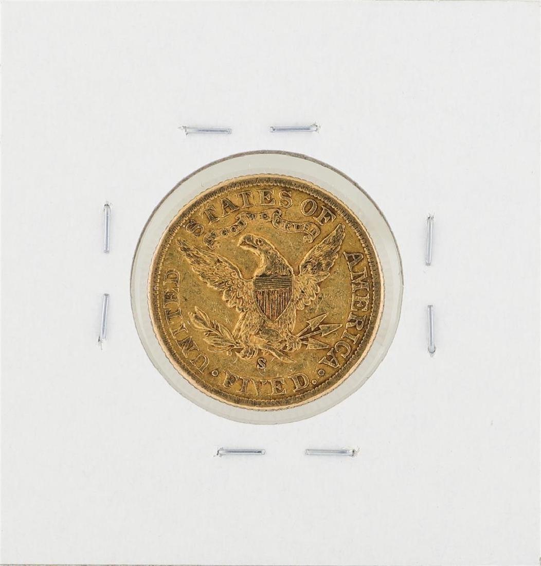 1900-S $5 Liberty Head Half Eagle Gold Coin - 2