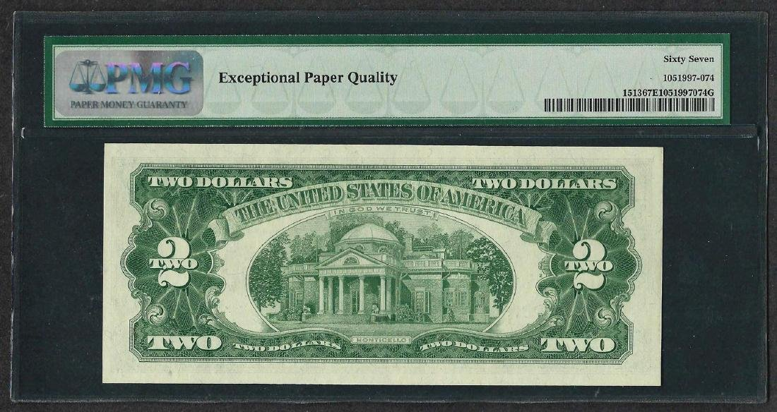 1963 $2 Legal Tender Note Fr.1513 PMG Superb Gem - 2