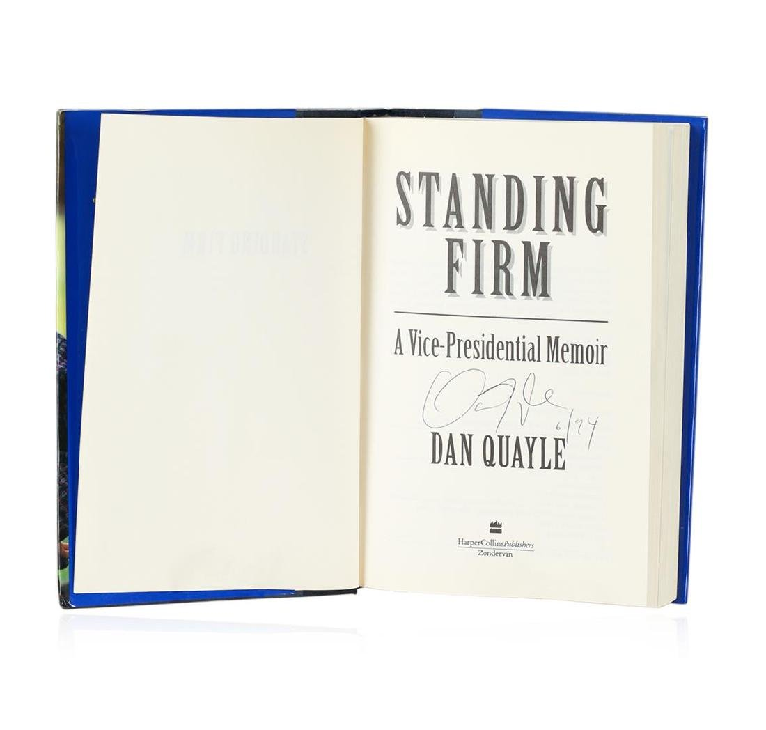 Signed Copy of Standing Firm by Dan Quayle - 2