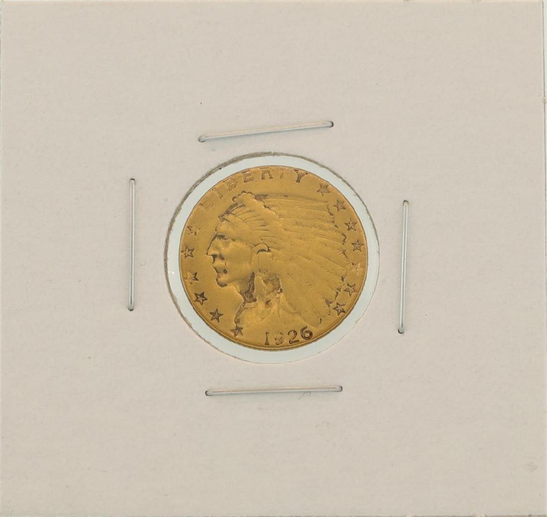 1926 $2.5 Indian Head Quarter Eagle Gold Coin