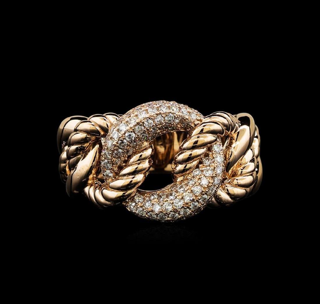 0.58 ctw Diamond Ring - 14KT Rose Gold - 2