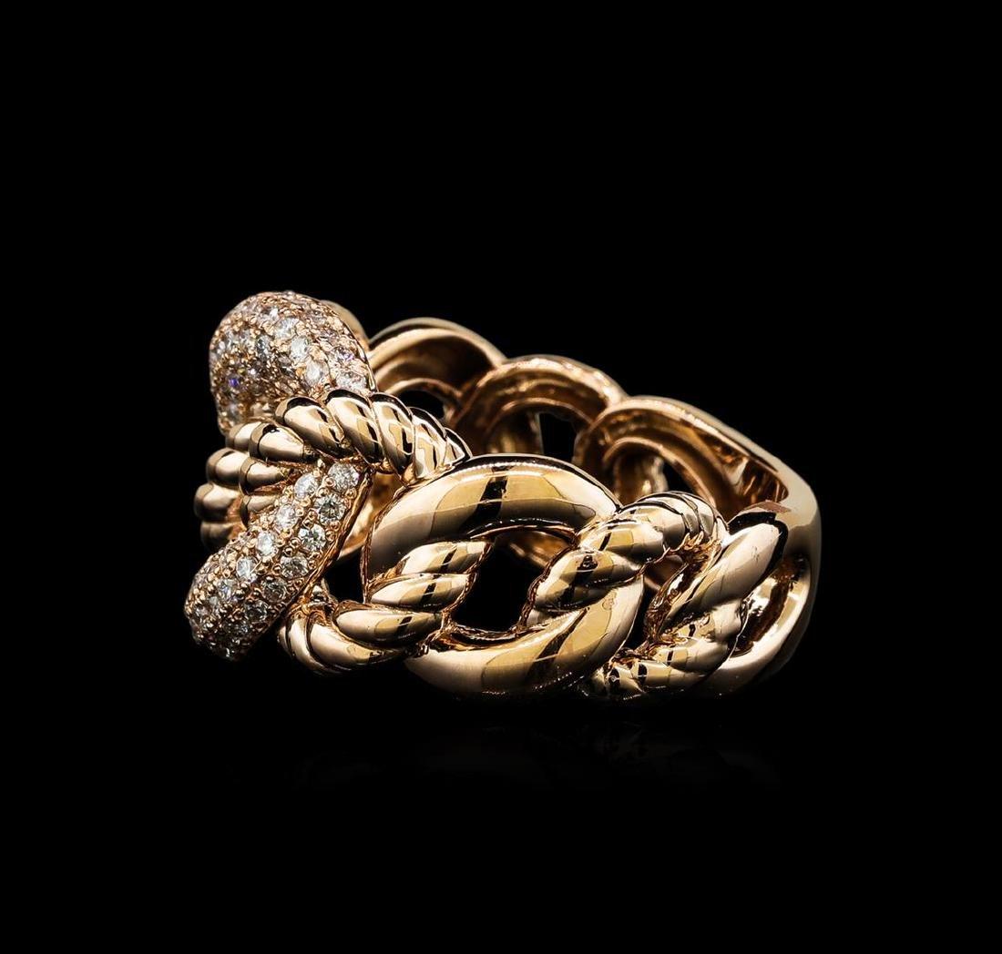 0.58 ctw Diamond Ring - 14KT Rose Gold - 3