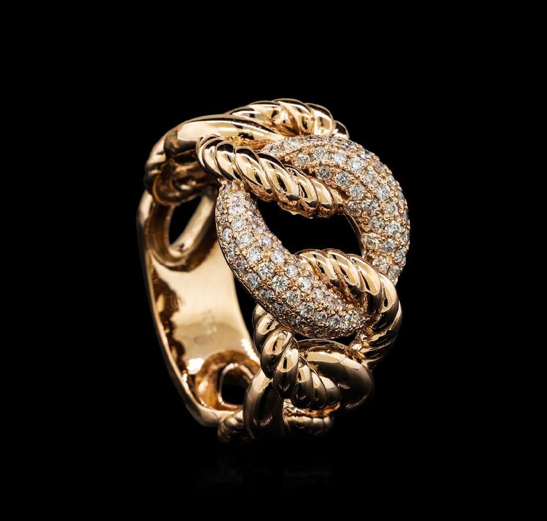 0.58 ctw Diamond Ring - 14KT Rose Gold - 4