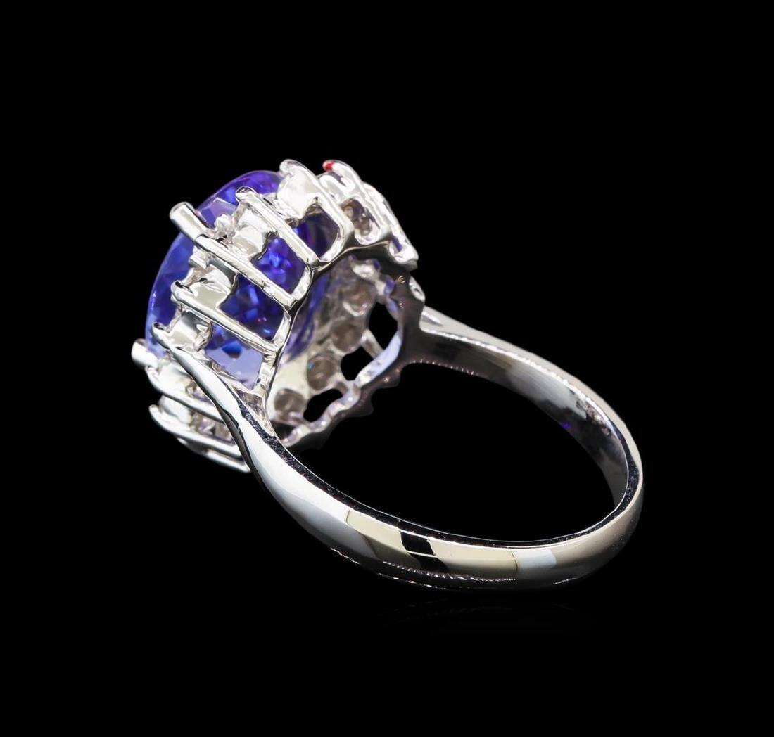 14KT White Gold 4.37 ctw Tanzanite and Diamond Ring - 3
