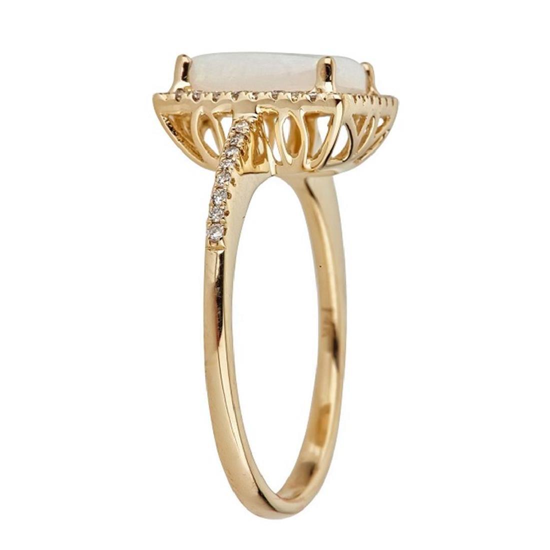 2.03 ctw Aquamarine and Diamond Ring - 14KT White Gold - 2