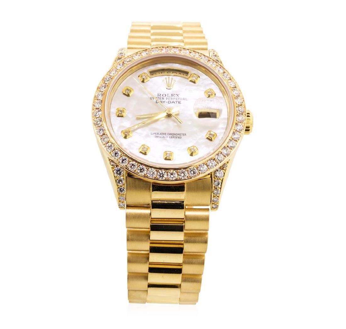 Rolex Men's President Wristwatch - 18KT Yellow Gold - 2