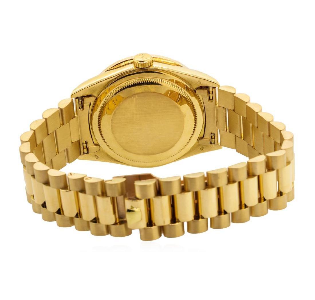 Rolex Men's President Wristwatch - 18KT Yellow Gold - 3