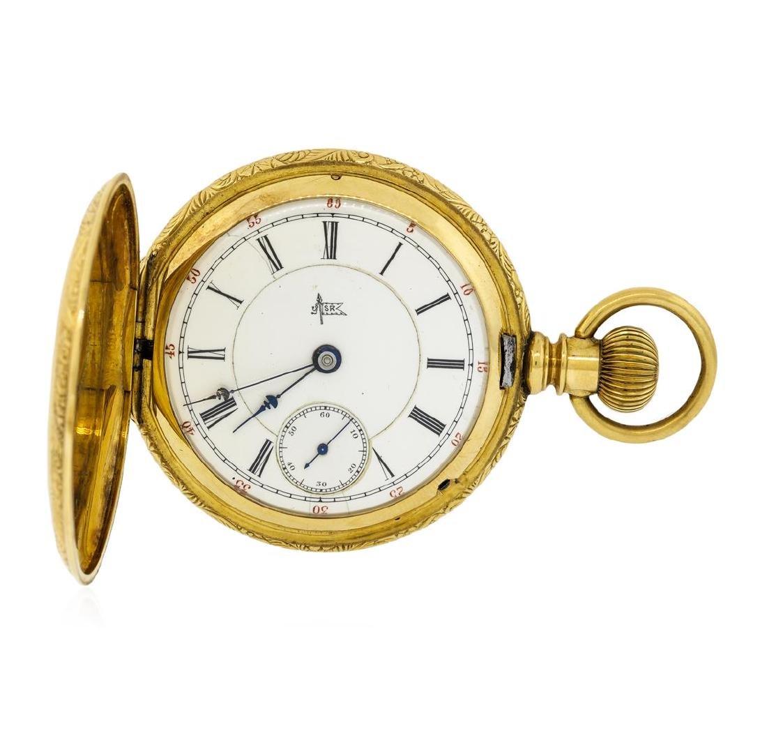 Antique Hampden Watch Co. Pocket Watch - 14KT Yellow - 3