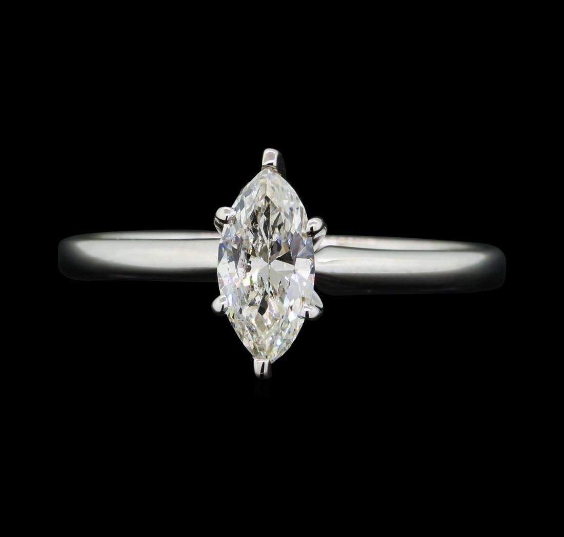 0.53 ctw Diamond Wedding Ring - 14KT White Gold - 2