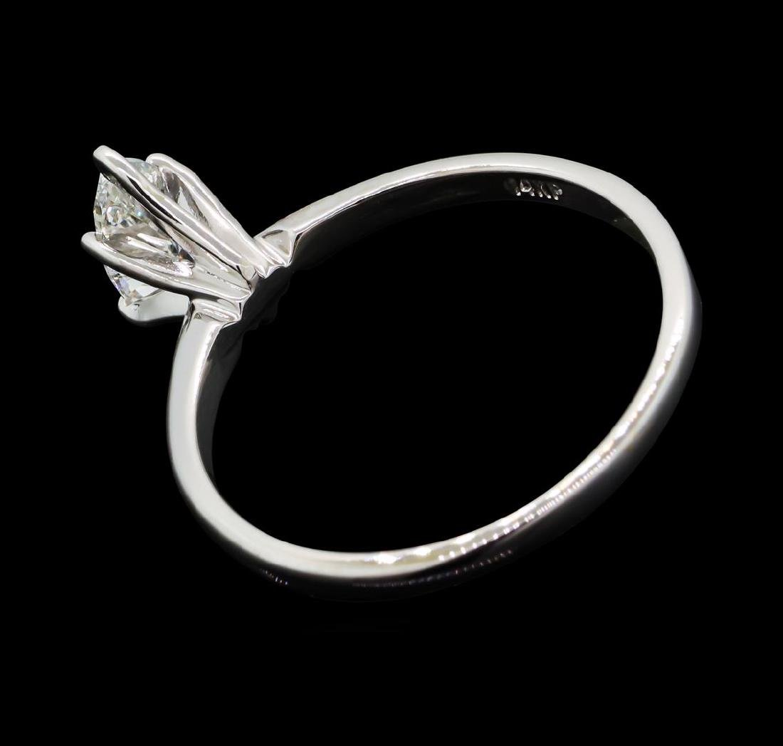 0.53 ctw Diamond Wedding Ring - 14KT White Gold - 3