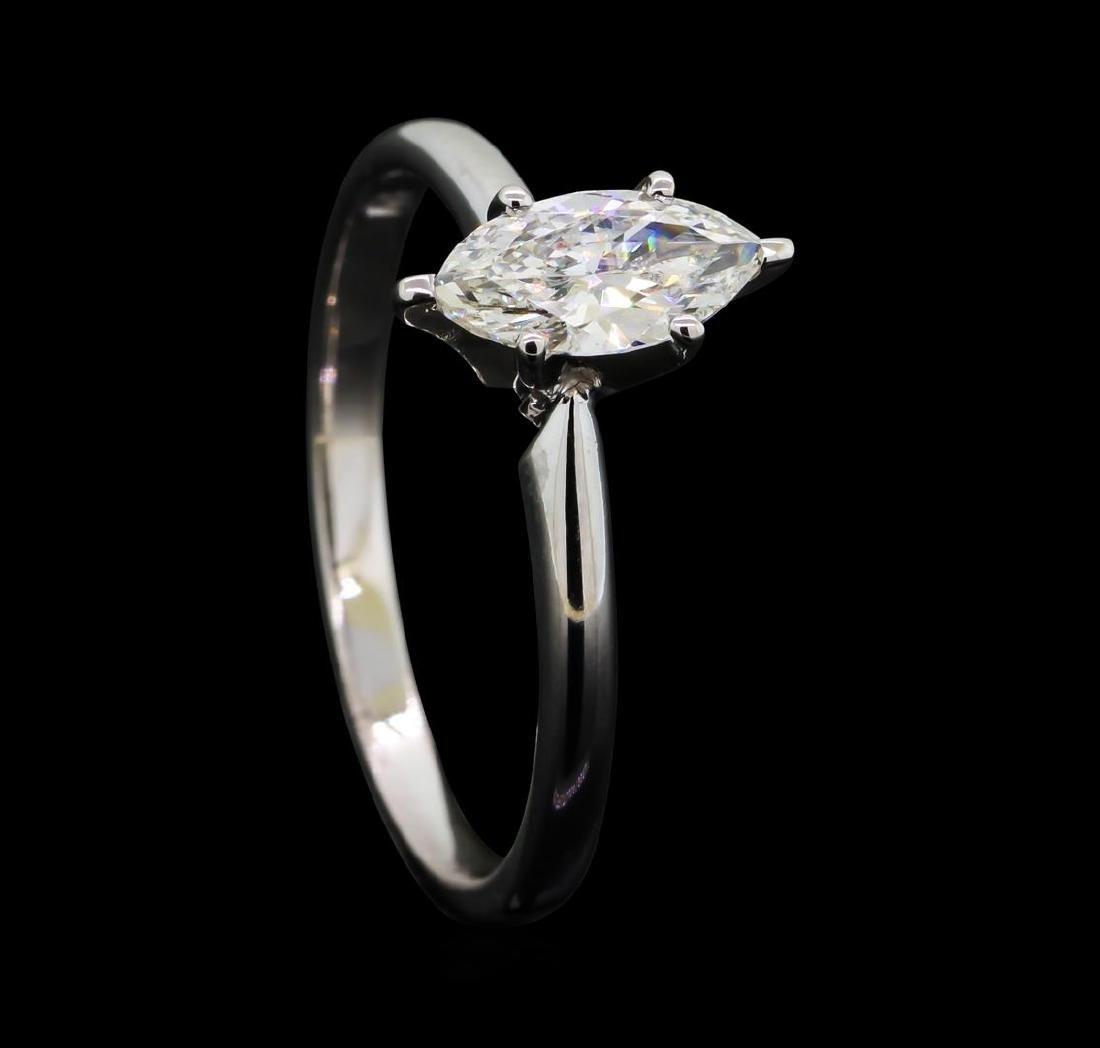 0.53 ctw Diamond Wedding Ring - 14KT White Gold - 4