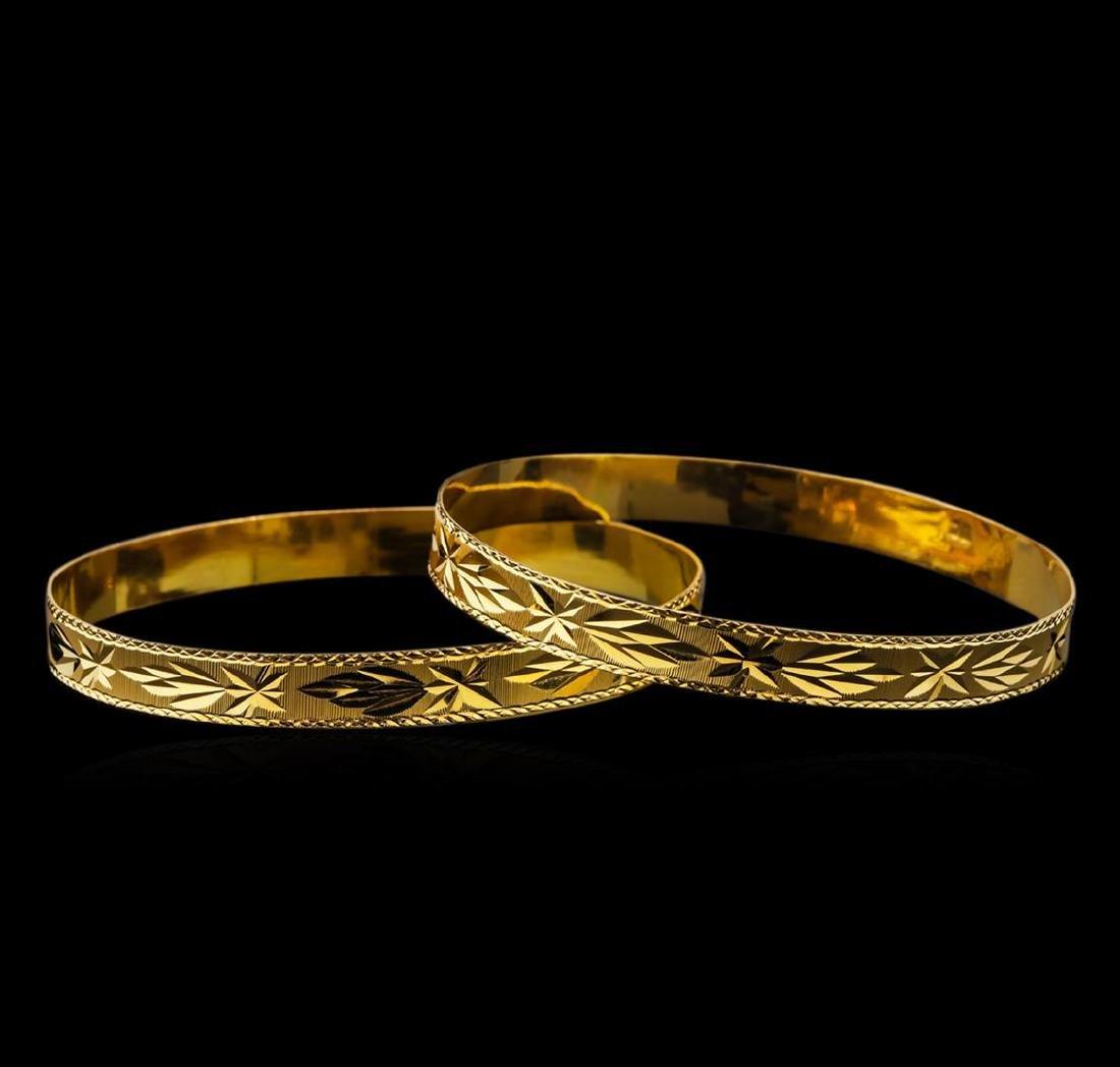 18KT Yellow Gold Bracelet Set