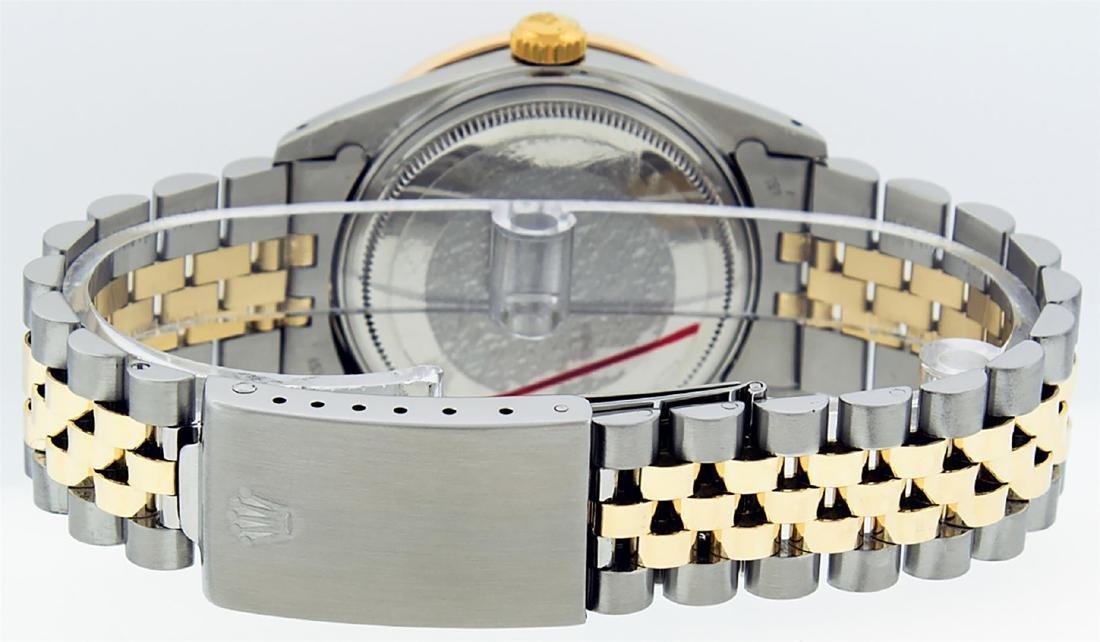 Rolex Mens 2 Tone 14K MOP Princess Cut Diamond Datejust - 8
