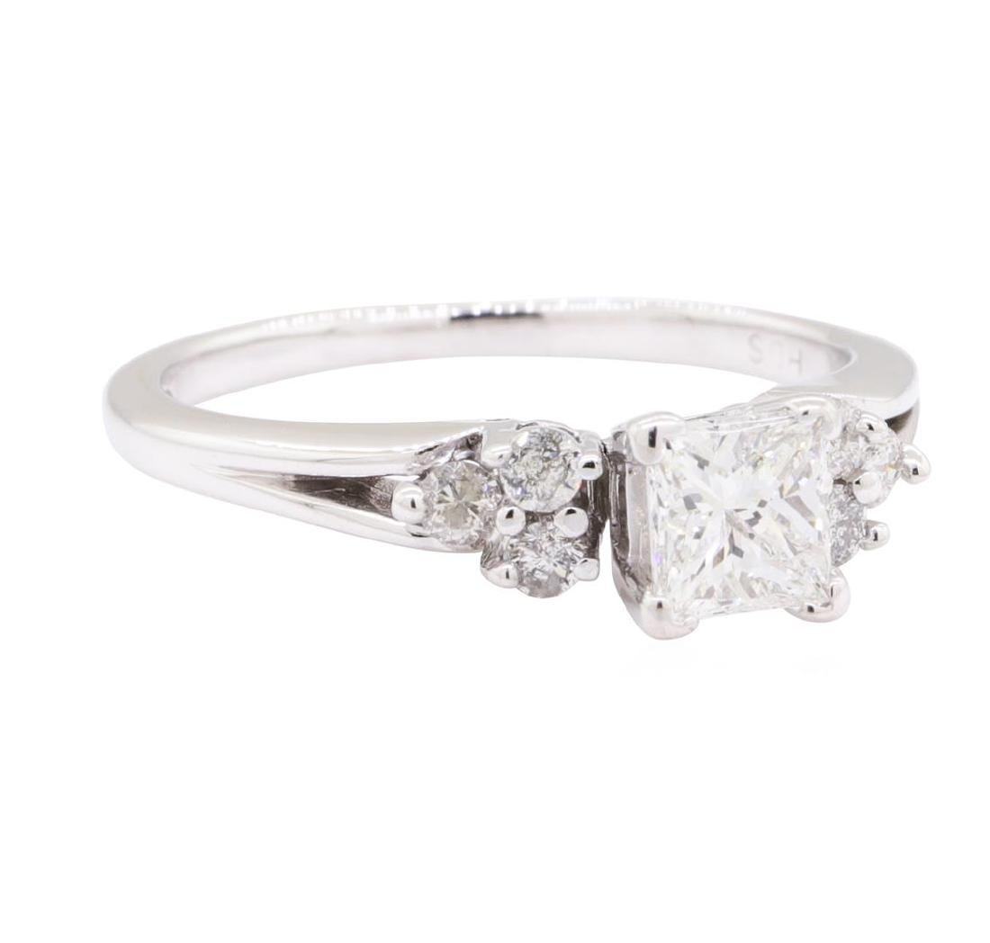 0.90 ctw Diamond Wedding Ring - 14KT White Gold