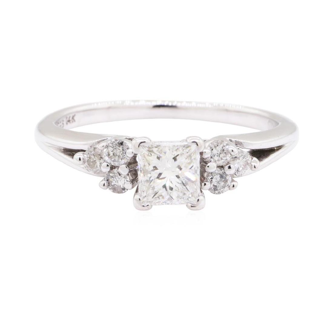 0.90 ctw Diamond Wedding Ring - 14KT White Gold - 2