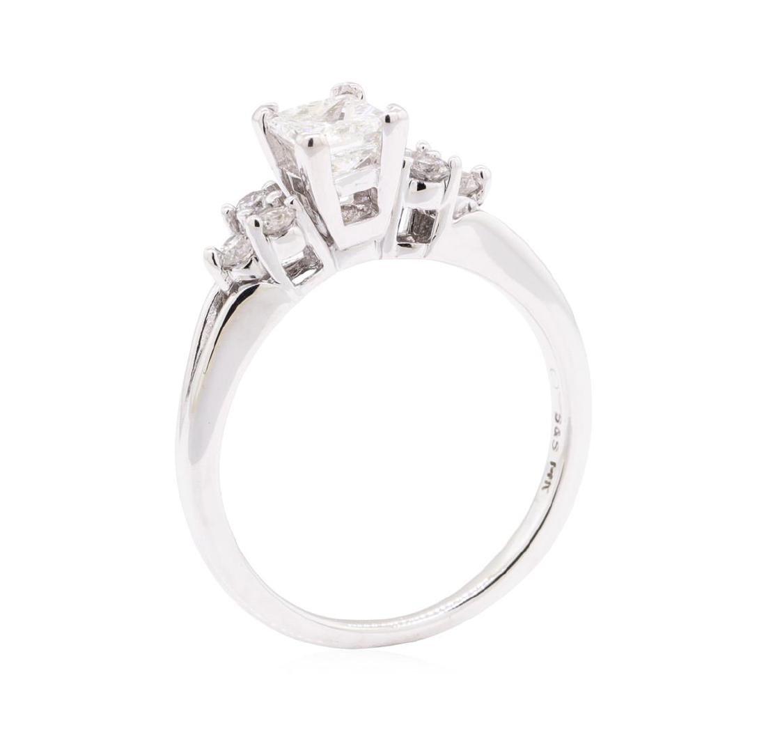 0.90 ctw Diamond Wedding Ring - 14KT White Gold - 4