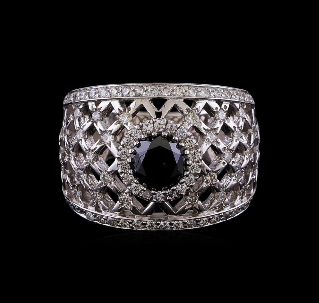 2.36 ctw Black Diamond Ring - 14KT White Gold - 2