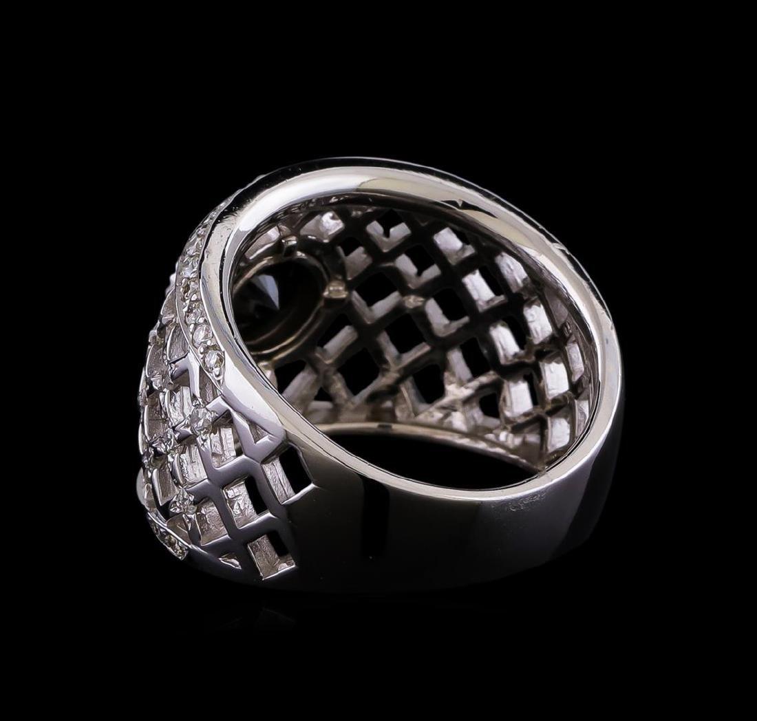 2.36 ctw Black Diamond Ring - 14KT White Gold - 3
