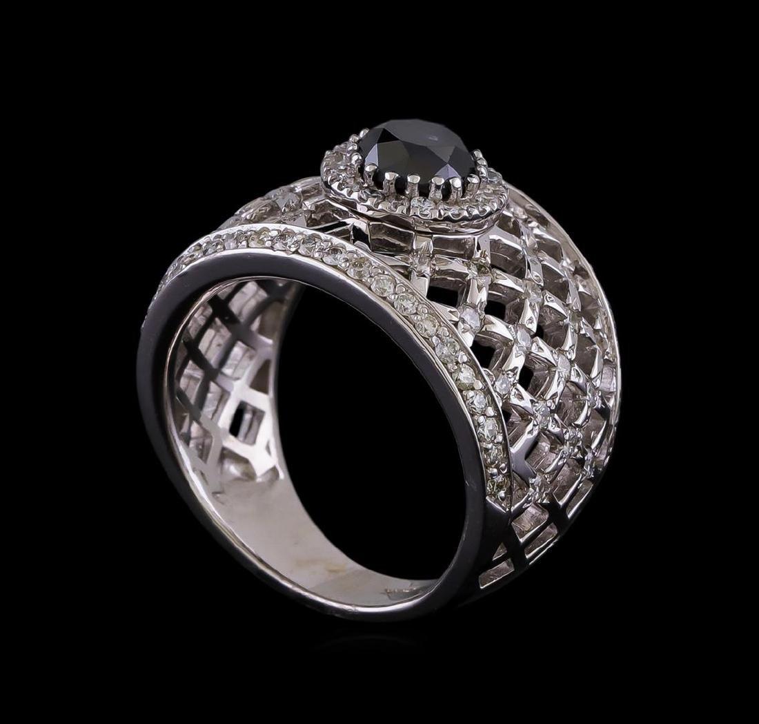 2.36 ctw Black Diamond Ring - 14KT White Gold - 4