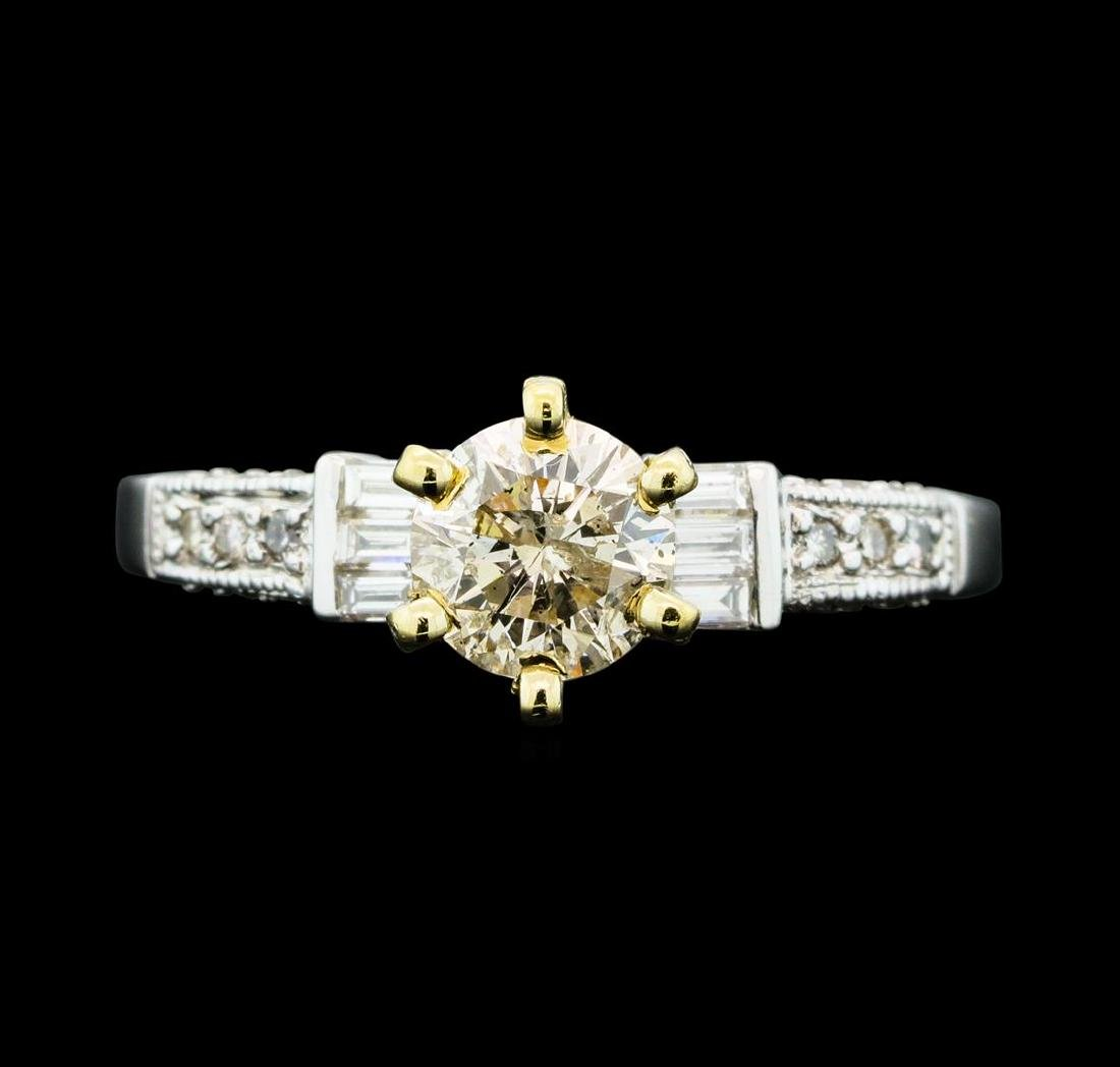 1.01 ctw Diamond Ring - 18KT Yellow And White Gold - 2