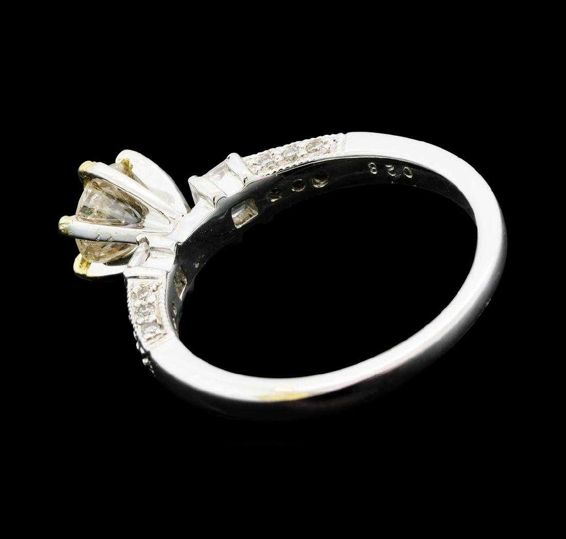 1.01 ctw Diamond Ring - 18KT Yellow And White Gold - 3