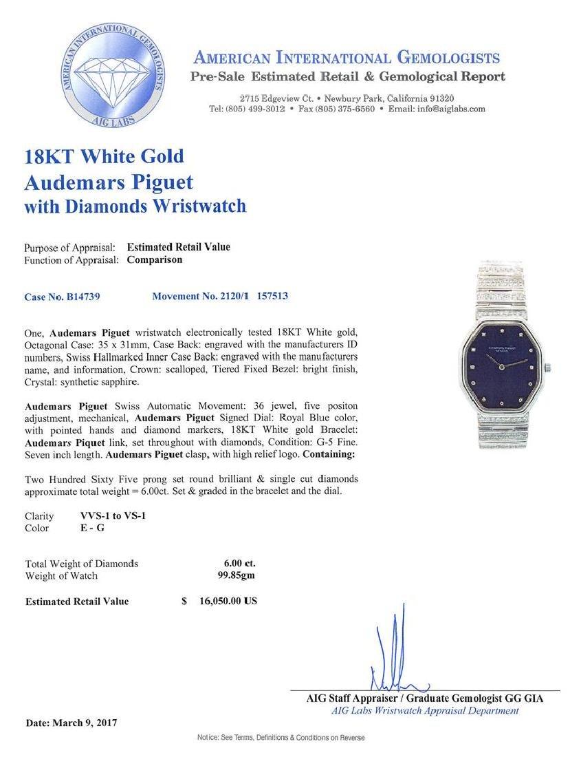 Audemars Piguet 18KT White Gold Diamond Watch - 5