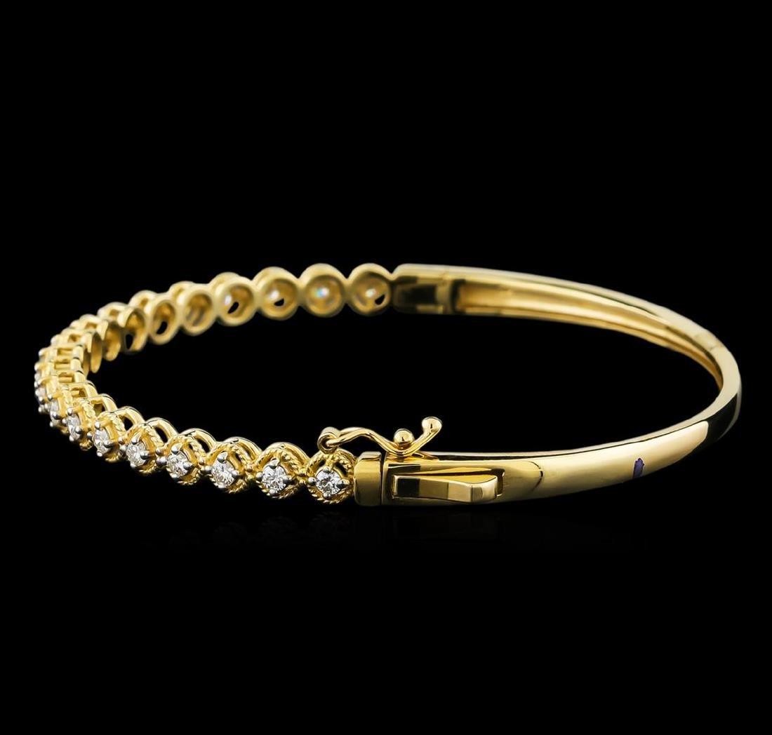 0.75 ctw Diamond Bracelet - 14KT Yellow Gold - 2
