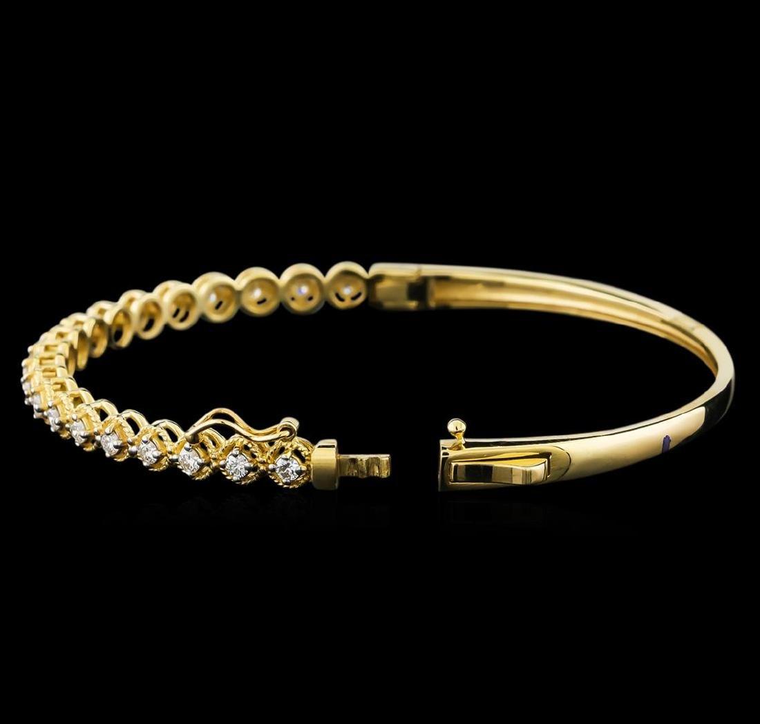 0.75 ctw Diamond Bracelet - 14KT Yellow Gold - 3